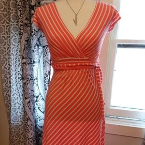 Gilli Peach Striped Dress Sz XS
